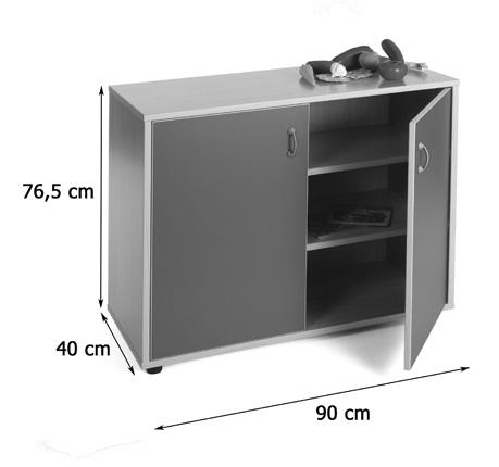 600202 mueble bajo armario 3 estantes mobiliario for Mueble 3 estantes