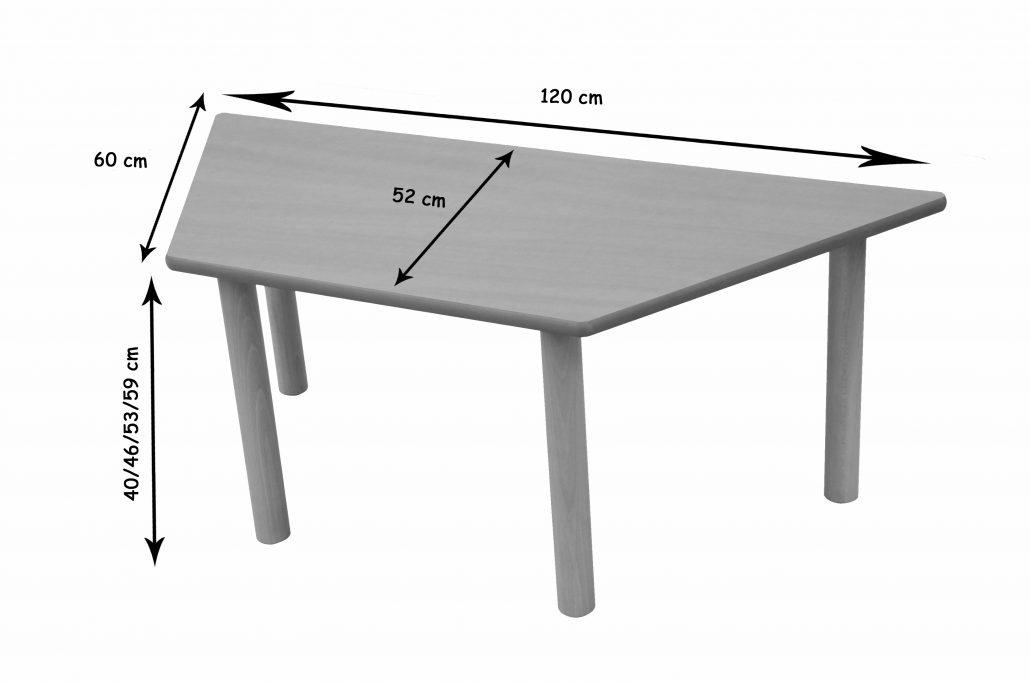 600552 - Mesa trapecio   Mobiliario Escolar   MOBeduc