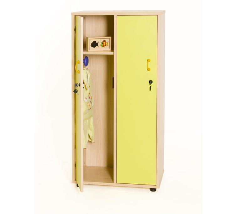 600613 mueble taquilla 2 ni os as 125 cm alto con llave for Mueble 50 cm alto