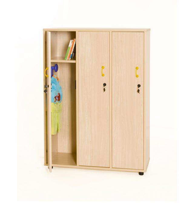 600616 mueble taquilla 3 ni os as 147 cm alto con llave for Mueble 50 cm alto