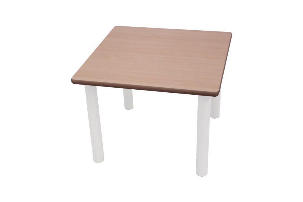 Mesa cuadrada 80 x 80 cm mobiliario escolar for Mesa cuadrada