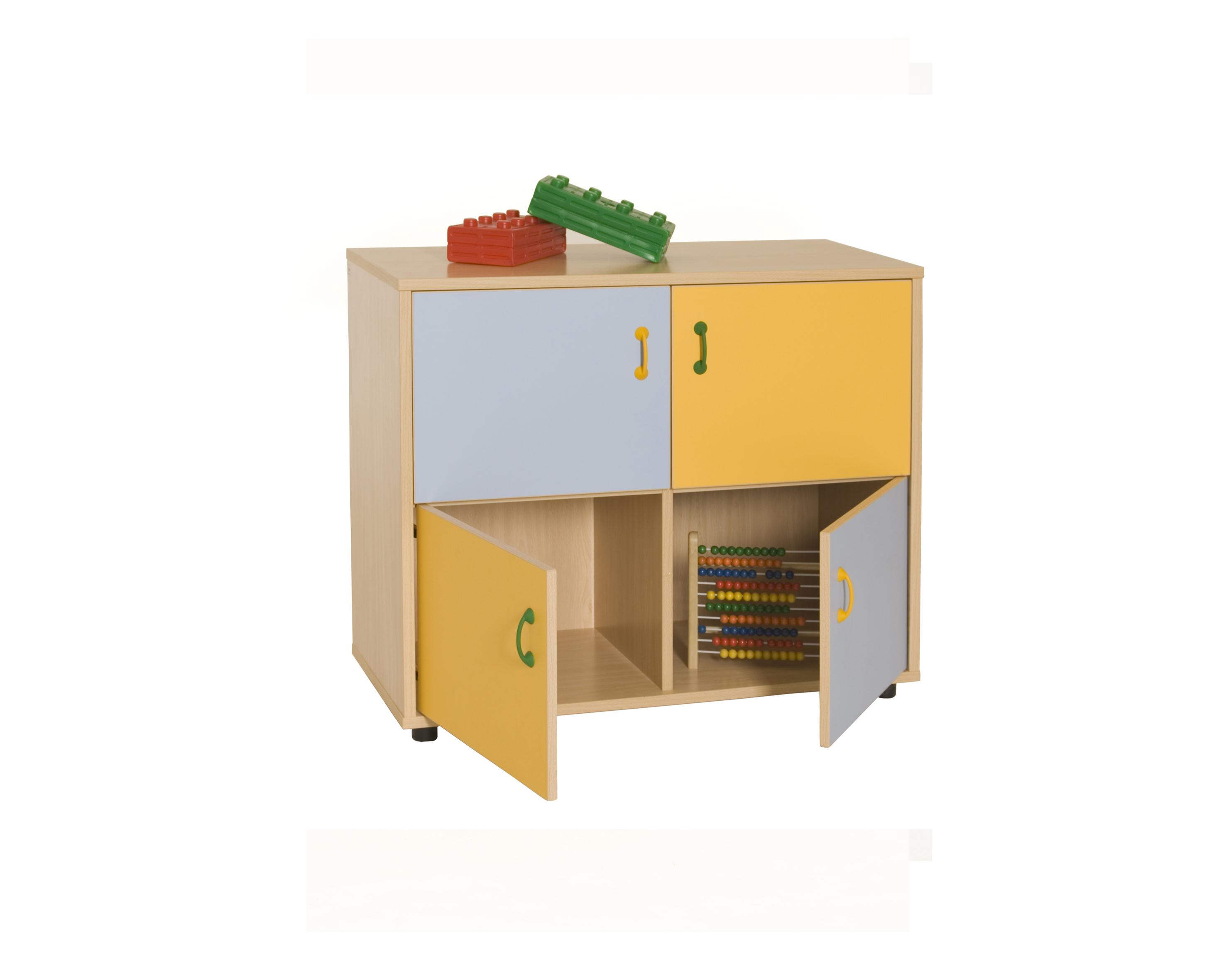 600218 mueble bajo armario 4 casillas 4 puertas for Mueble 4 puertas