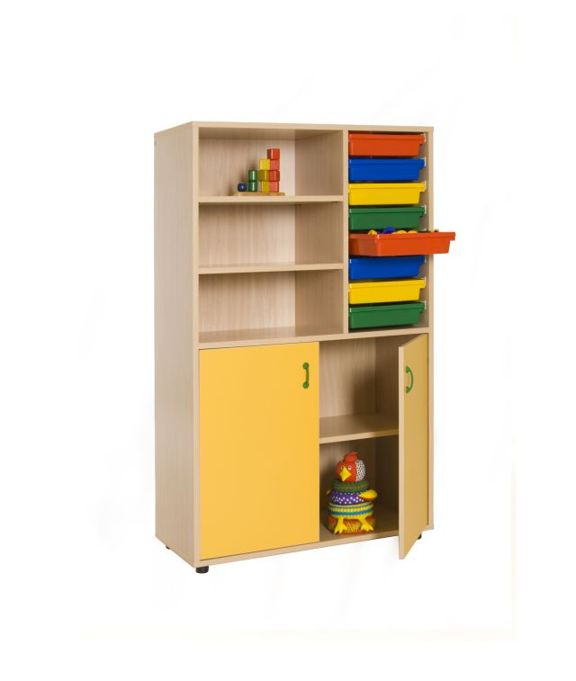 600318 mueble medio armario estanter a cubetero mobiliario escolar mobeduc - Armario estanteria ...