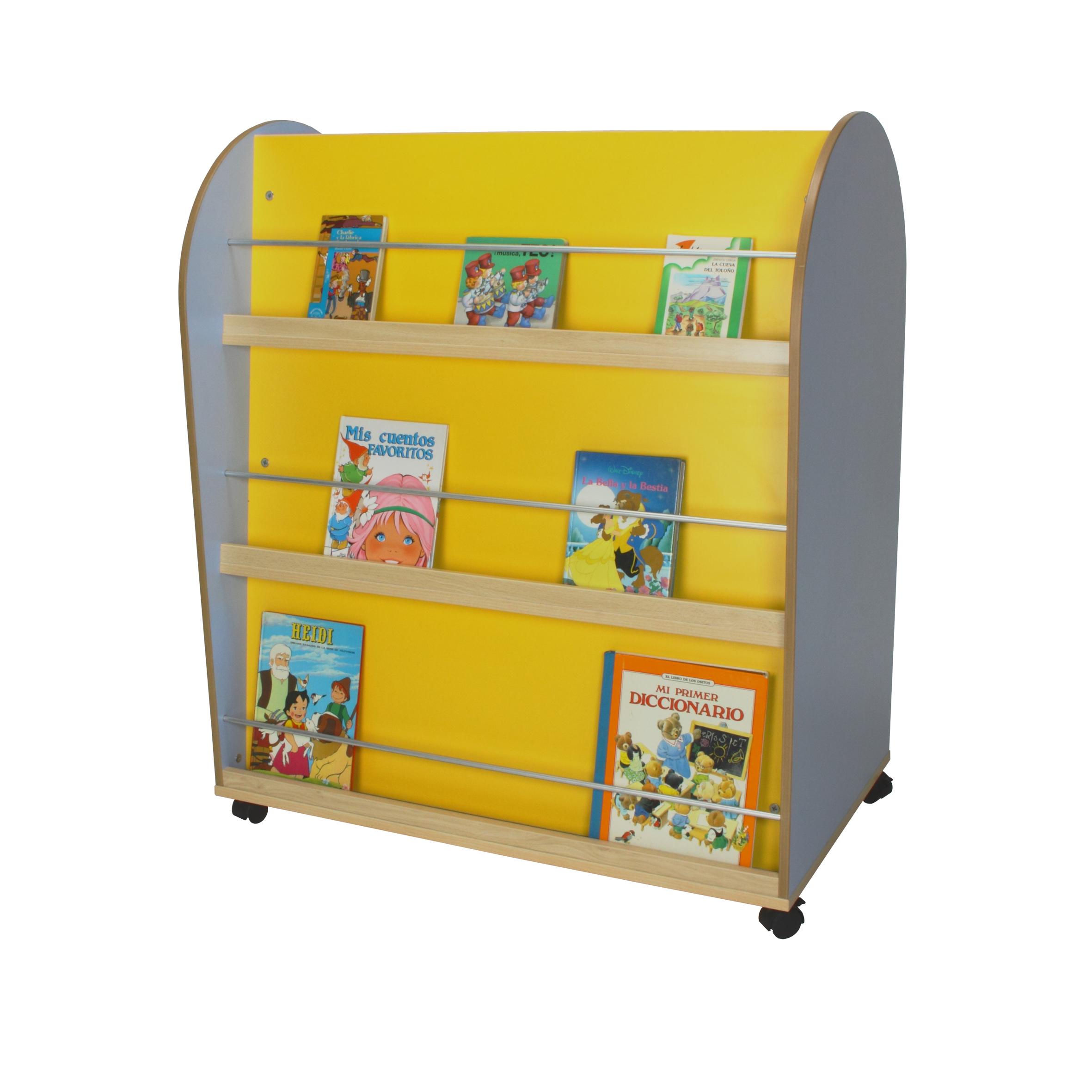 602102 mueble expositor de libros ovalado mobiliario for Muebles de libreria