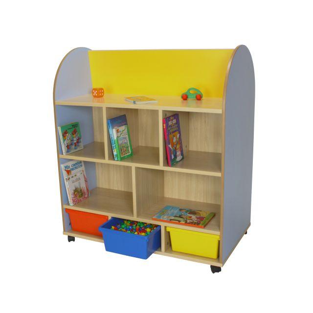 602102 mueble expositor de libros ovalado mobiliario